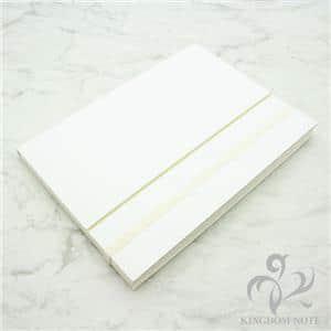 紙のミルフィーユ 袋とじノート A5判 ホワイト メイン