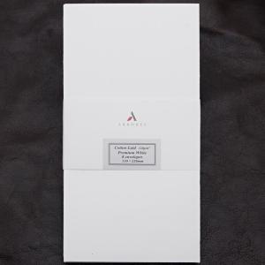 封筒 ペーパーコレクション コットンレイド プレミアムホワイト