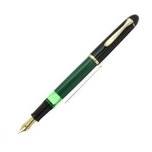 Pelikan ペリカン 万年筆 M120 グリーンブラック EF メイン