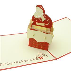 ステーショナリー 3Dポップアップカード クリスマスシリーズ サンタクロース