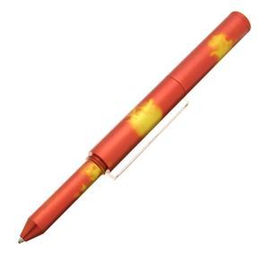 ボールペン ショーンデザインペン #01 マルチカラーアルミニウムペン レッド×イエロー