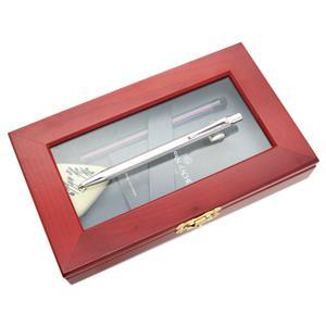 メカニカルペンシル フィックスペンシル エクリドール シェブロン シルバー&ロジウムプレート 2mm [ネーム刻印]