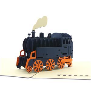 ステーショナリー 3Dポップアップカード 乗り物シリーズ 機関車