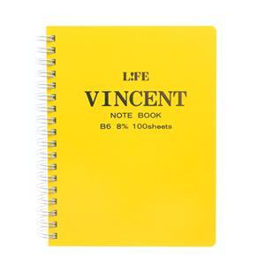 ヴィンセントノート B6 黄 N189D