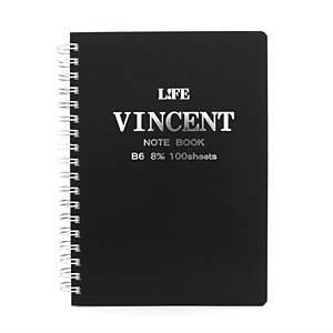LIFE ライフ ヴィンセントノート B6 黒 N189E メイン