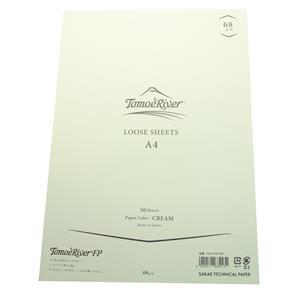 ルーズシート トモエリバーFP A4 68g/m2 クリーム