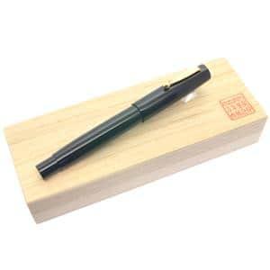 万年筆 万年筆 ハンドメイド万年筆 M形吸入方式 エボナイト ブラック 軟中細字 (PILOTペン先)