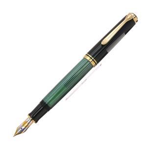 万年筆 スーベレーン M800 緑縞 F [ネーム刻印]