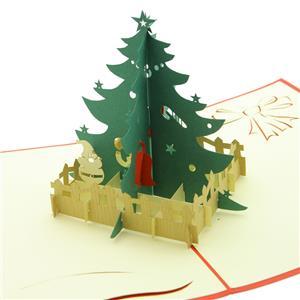 ステーショナリー 3Dポップアップカード クリスマスシリーズ ツリー