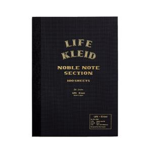 ノート kleid×LIFE ノーブルノート ブラック B6 2mm方眼 8963(クリーム)