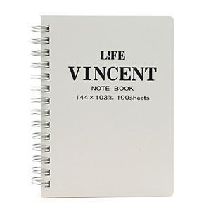 ヴィンセントノート A6 白 N187b