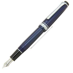 万年筆 プロフェッショナルギア スリム銀 趣味の文具箱限定ブルー 細字