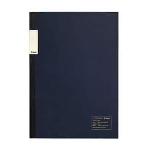 中村印刷所×kleid フラットノート ネイビー A5 2mm方眼 8402(クリーム)