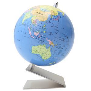 地球儀 小型地球儀 WS 行政タイプ シルバー台 (No.1204)