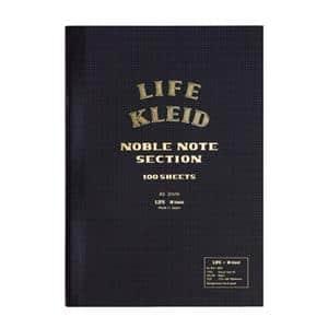 ノート kleid×LIFE ノーブルノート ブラック A5 2mm方眼 8961(クリーム)