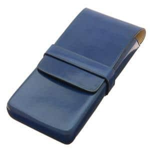 ペンケース 3本用 ブルー