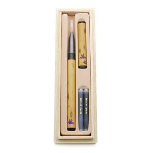 天然竹筆ペン 鶴