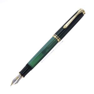 万年筆 スーベレーン M800 緑縞 F