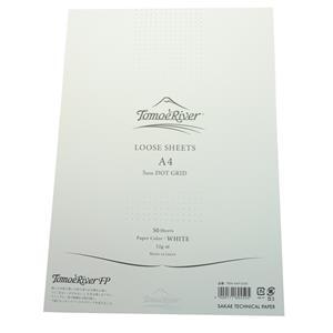 ルーズシート トモエリバーFP A4 5mmドットグリット ホワイト