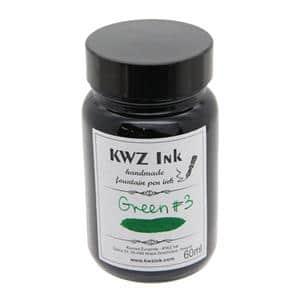 ボトルインク カヴゼットインク(KWZInk) グリーン#3 60ml