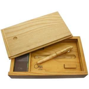 万年筆 プレシャスウッドコレクション1996 メープル 丸軸 B
