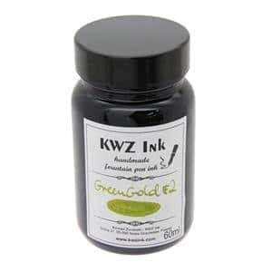ボトルインク カヴゼットインク(KWZInk) グリーンゴールド#2 60ml