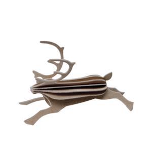 ステーショナリー グリーティングカード トナカイ 8cm グレイ