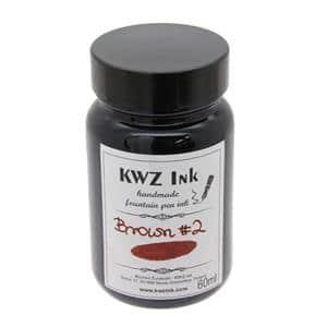 ボトルインク カヴゼットインク(KWZInk) ブラウン#2 60ml
