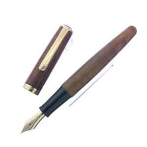 PLATINUM プラチナ 万年筆 #3776 ブライヤー 細字 (旧型/エボナイトペン芯) メイン