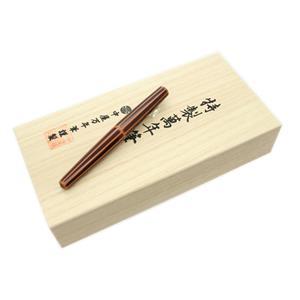 万年筆 シガーモデル ピッコロ 十角 鴇溜 超極細字 (ルテニウムペン先)