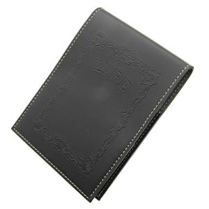 カバー付きノーブルメモ N52 黒 横罫