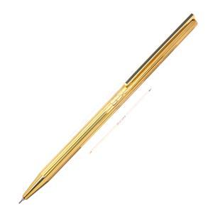 メカニカルペンシル クラシック ゴールドプレート ライン 漆黒クリップ 0.7mm